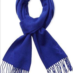 $395 New YSL Dazzling Blue Scarf